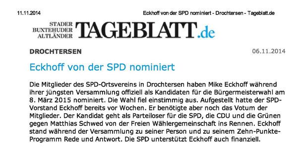 Neue Stader Wochenblatt vom 05.11.2014