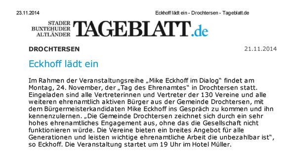 Stader Tageblatt vom 21.11.2014