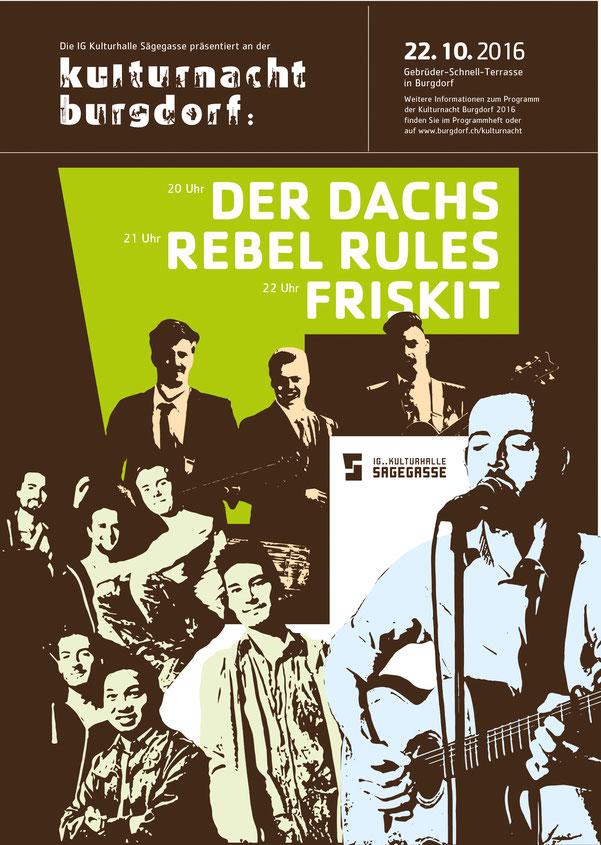 Plakatdesign: Die IG Sägegasse an der Kulturnacht 2016 | Lockedesign 2016