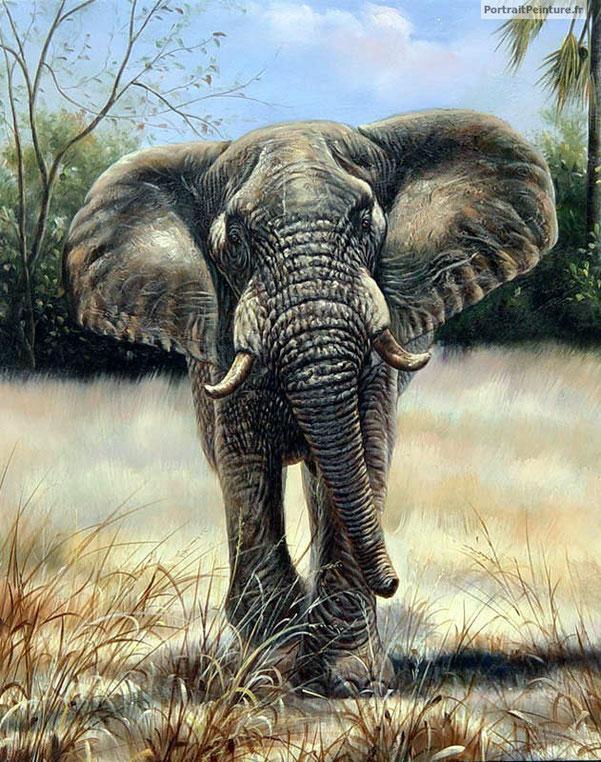 peinture-animaliere-elephant