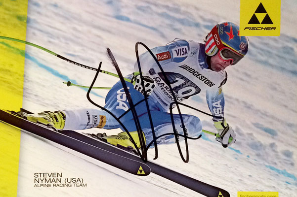 Steven Nyman USA, Downhill, won 3 times the downhill race of Gröden Italy, Autograph by Mail