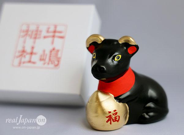 牛嶋神社から12年に一度の「牛のお守り」が完成。