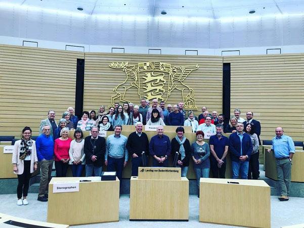 02. November 2018: Heute mit interessierten Bürgern aus meinem Wahlkreis in Stuttgart im Landtag. #fdpbw #landtagstuttgart #plenum #klaushoher #bürgernahepolitik