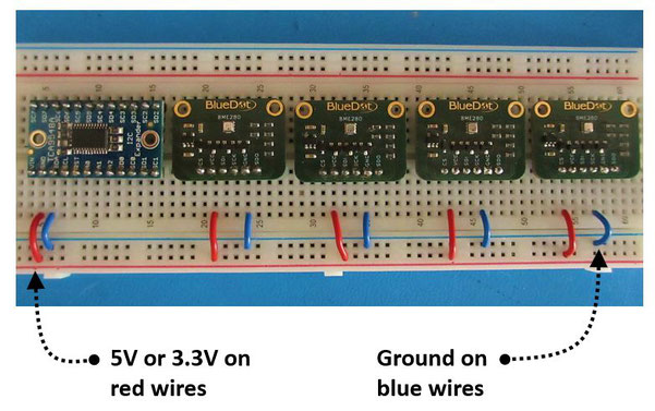 Connecting Multiple Sensors using an I2C Multiplexer
