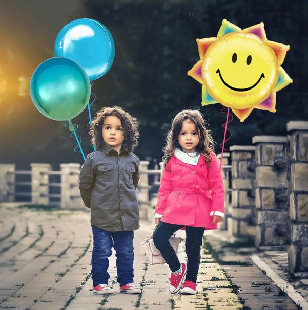 Ballon Luftballon Heliumballon bleib gesund Corona Pandemie Sonne Regenbogen Ballongruß Ballonversand verschicken Ballonbox Box Verwandte Liebe Freunde Gruß bunt fröhlich Ballonpost Post Überraschung Mitbringsel Geburtstag Muttertag Vatertag