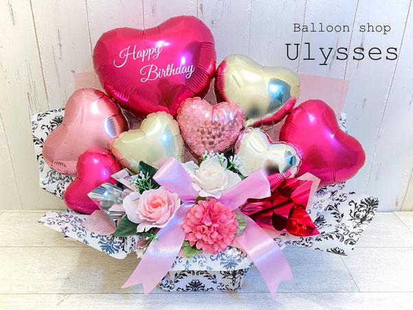 誕生日 バルーンギフト バルーンアート 開店祝い 結婚祝い 茨城県つくば市バルーンショップユリシス 卓上アレンジ