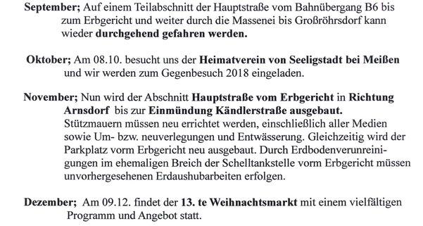 Bild: Seeligstadt Chronik 2017