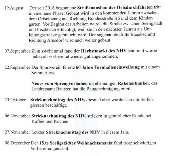 Bild: Seeligstadt Chronik 2019 Bruneker