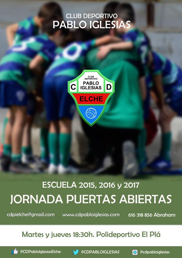Club Deportivo Pablo Iglesias, tu club de fútbol en Elche.