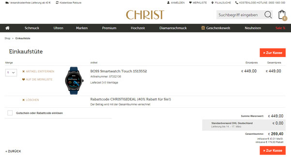 Christ Hugo Boss Smartwatch