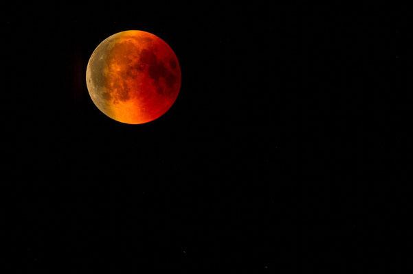 La « lune de sang » est un phénomène astronomique rare qui ne s'est produit que 5 fois depuis 1900. La lune représente Jésus, elle n'émet plus de lumière car les gouvernements vont interdire l'enseignement ainsi que les réunions de culte chrétien.