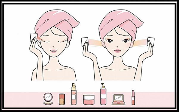 Struccare e detergere il viso dal make up e impurità