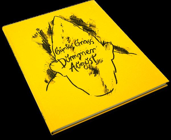 Günter Grass, Dummer August, Cover, Buch, Book, Katalog, Catalogue, Layout, Gestaltung, Buchgestaltung, Typografie, Typography, claasbooks, Claas Möller