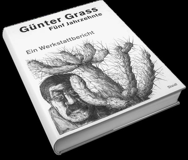 Günter Grass, Fünf Jahrzehnte, Cover, Buch, Book, Katalog, Catalogue, Layout, Gestaltung, Buchgestaltung, Typografie, Typography, claasbooks, Claas Möller