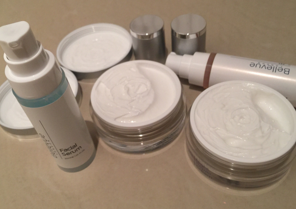 Day Cream, Night Cream, Facial Serum and Eye Gel