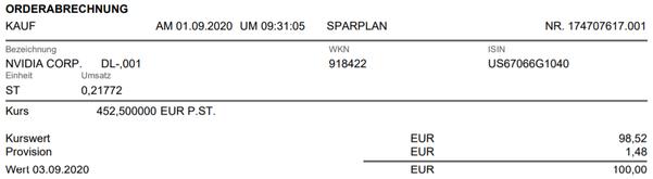 freaky finance, Consorsbank Aktiensparplan, Nvidia