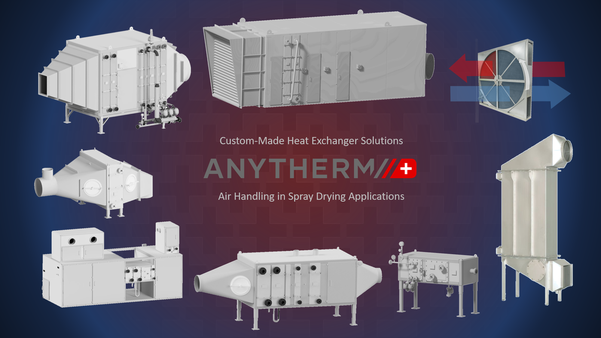 Custom-Made Heat Exchangers for Air Conditioning in Spray Drying