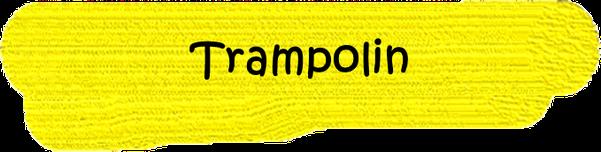 VfL Altenhagen schwarzes Wort Trampolin auf gelbem Grund