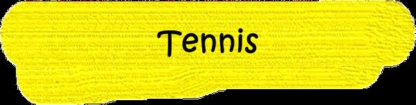 VfL Altenhagen schwarzes Wort Tennis auf gelbem Grund