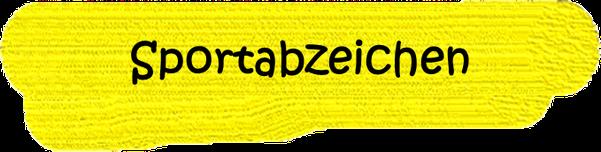 VfL Altenhagen schwarzes Wort Sportabzeichen auf gelbem Grund