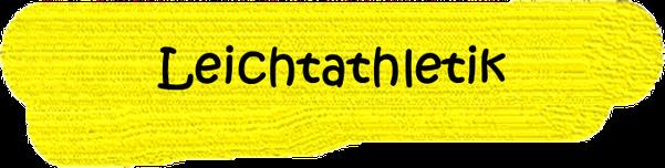 VfL Altenhagen schwarzes Wort Leichtathletik auf gelbem Grund