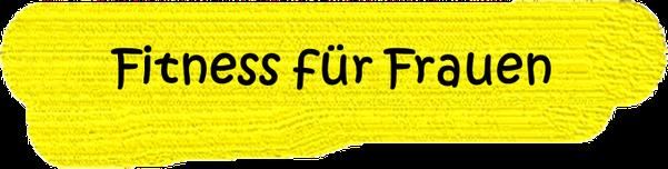 VfL Altenhagen schwarze Wörter Fitness für Frauen auf gelbem Grund