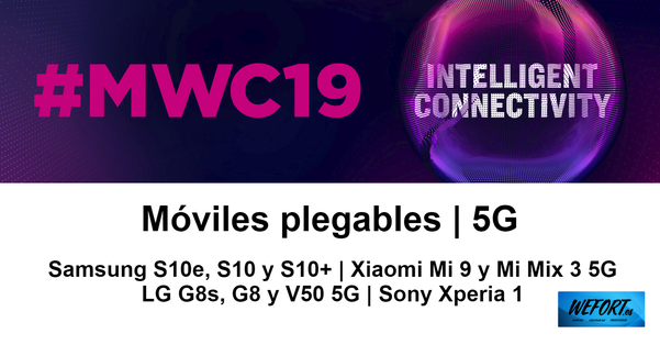 Móviles plegables y 5G en el Mobile World Congress 2019 de Barcelona