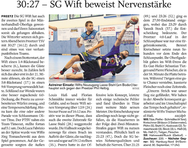 2. Spieltag Oberliga 2017/2018