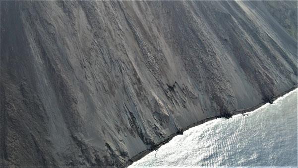 Italien, Sizilien, Liparische Inseln, Äolische, Stromboli, Sehenswürdigkeit, Vulkan, Schwefel, Lava, Küstenstreifen