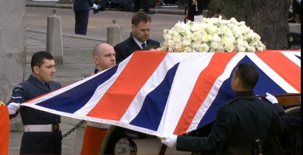 元サッチャー首相の国葬