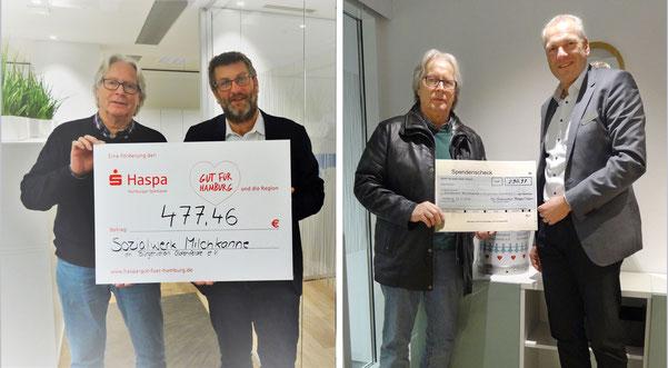 Übergabe der Spendenerlöse in den HASPA-Filialen Berne/Oldenfelde  und Rahlstedt