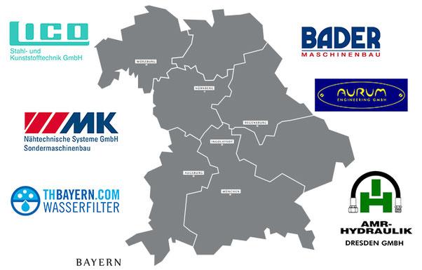 Unsere Partner und Kunden aus dem Bereich Anlagen- und Maschinenbau