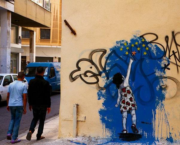 ※1:アテネのストリート・アーティストBleepsgrの『星とヒトデ』