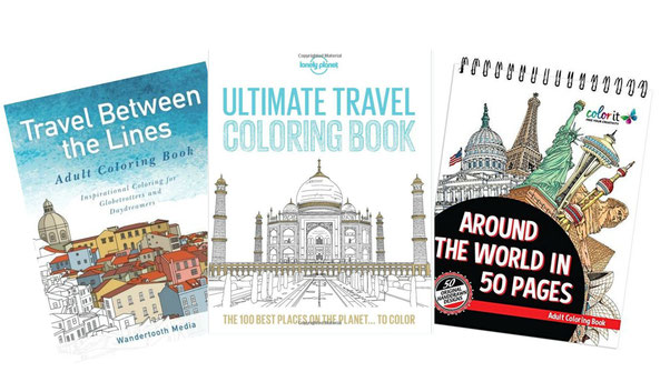 Lonely Planet's Ultimate Travel Coloring book