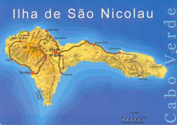 Je vous glisse une carte de l'île pour que vous fassiez une petite idée de la géographie du lieu.