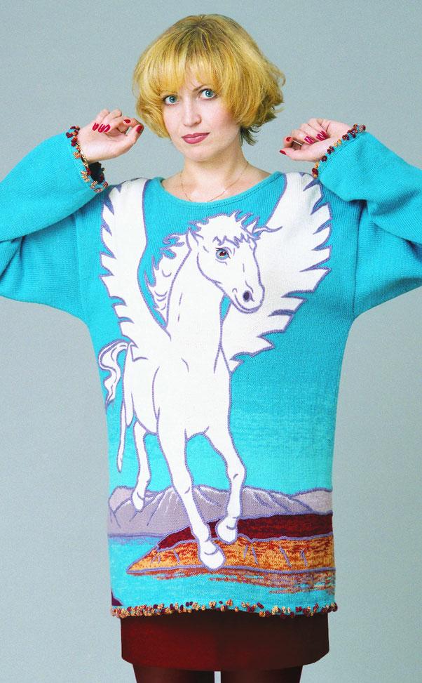 "Alexander Seraphim's knitwear, ""Pegasus"", 1999"