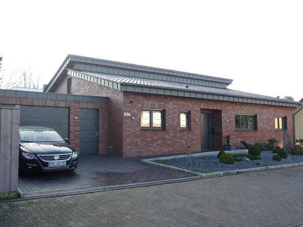 Architektenhaus in Massibauweise als Energieplushaus in Lübbecke - Massivhaus bauen -  Hausbaufirma pb-bergjans