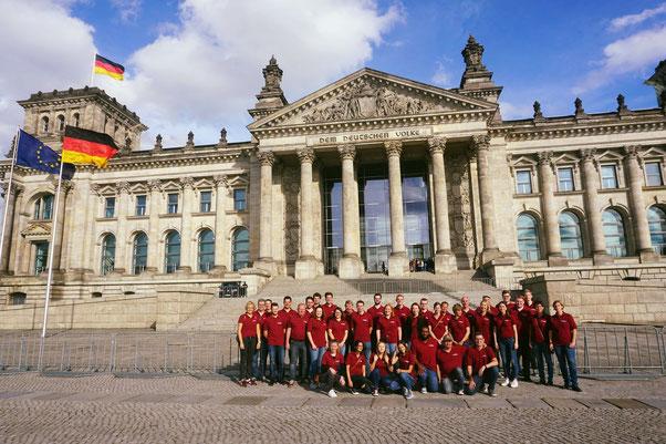 Der Musikverein Beringhausen im Sommer 2020 in Berlin