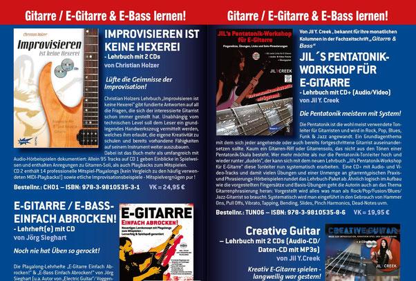 E-Gitarre & E-Bass Lehrbücher