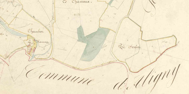 Le hameau de Chamboux en 1842