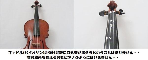 バイオリン フィドル 音の場所 指使い