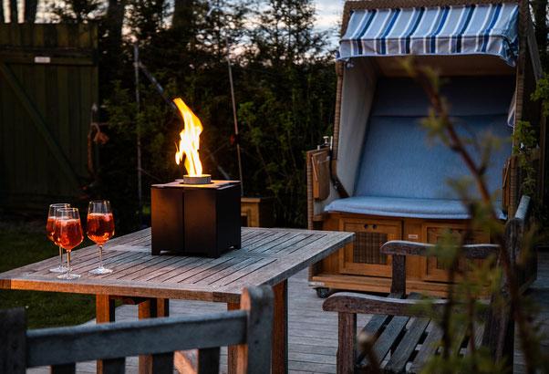 Pelmondo Feuermöbel Haus Stamp Seeth Cube Terrasse Outdoorliving Pellets