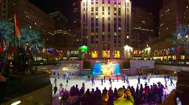Eisbahn am Rockefeller Center