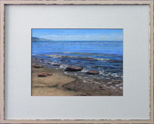 """Am Strand"" (Pastell), 50 cm x 40 cm"