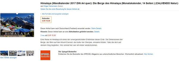 Kalender Himalaya Nepal Holger Heinemann 2017
