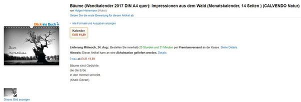 Kalender Baum Holger Heinemann