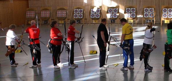 sportliches Duell: Anke (links) und Gabi (rechts)