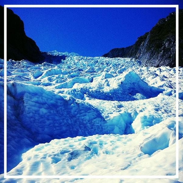 Gletscher. Fox Glacier. Neuseeland. Klimawandel