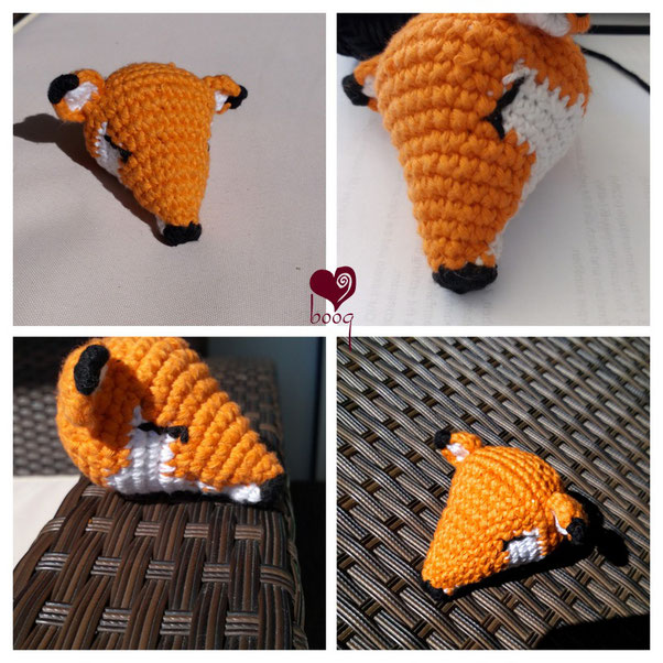 sleeping fox amigurumi crochet