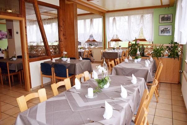 Restaurant-Gastraum der Gaststätte Talwiesenstuben in Ostfildern-Ruit